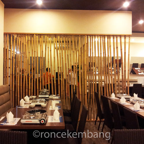 Bamboo Partition Resto Paregu F2C - BA09, View from the left side