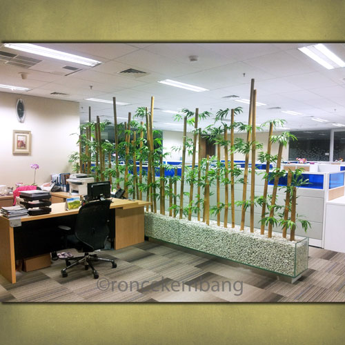 Bamboo Partition Secretary Room - BA14, Separate secretary room with staff working area