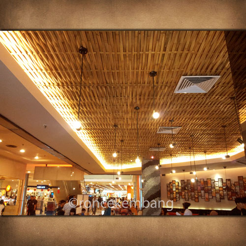 Woven Bamboo Ceiling Chicken Story - BA15, Woven with tight & tidy