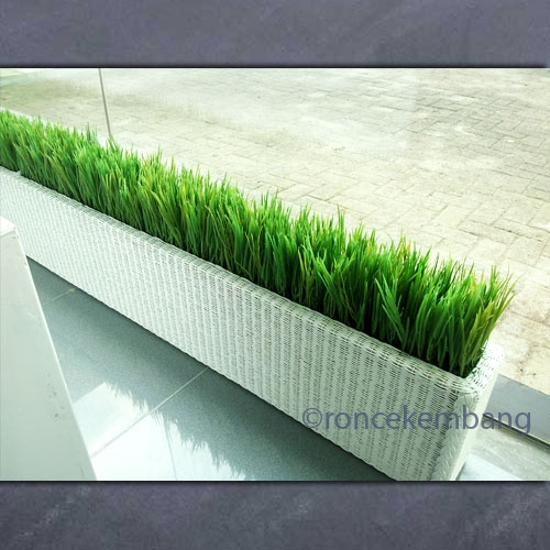 Artificial Grass Planter - AP07, Another side view